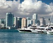 florida skyline and boats